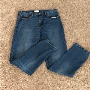 Gap athletic cut jeans